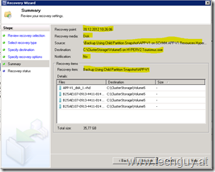 SCDPM 2012 Recovery Wizard
