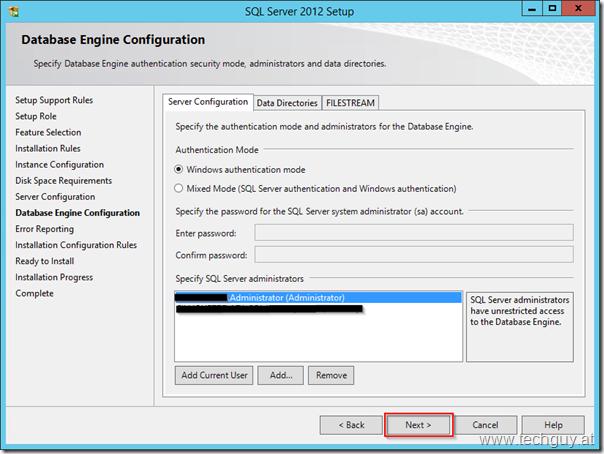 SQL Server 2012 Setup