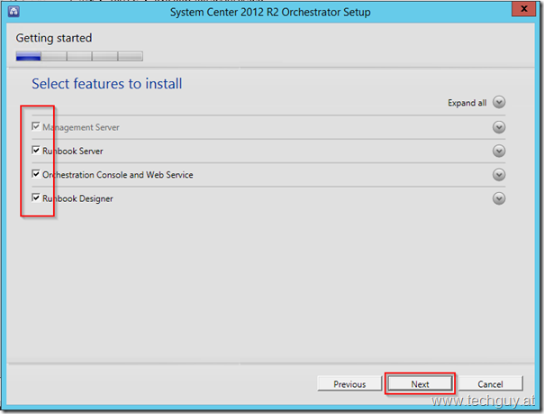 Sysem Center 2012 R2 Orchestrator Setup