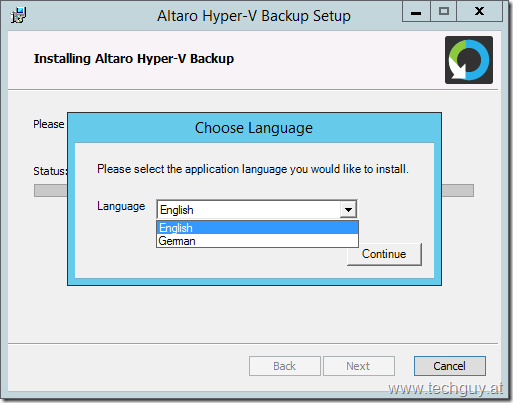 Altaro Hyper-V Backup Setup