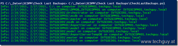 Check Last SCDPM Backup Script | techguy.at
